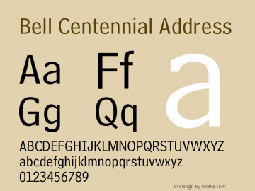 Bell Centennial Address Version 003.001图片样张