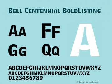 Bell Centennial BoldListing Version 003.001图片样张