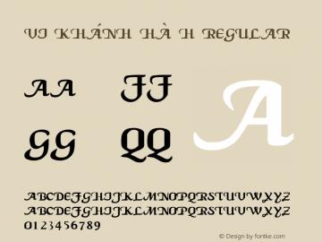 VI Khánh Hà H Regular Unknown Font Sample