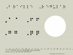 Braille Regular Version 1.00 Font Sample