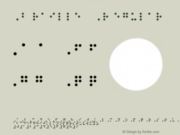 Braille Regular Version 1.00 Font Sample