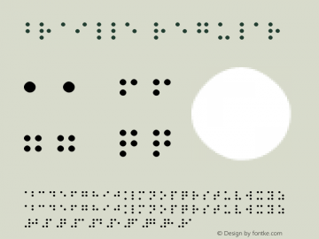 Braille Regular Version 1.0 Font Sample