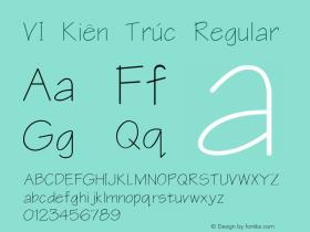 VI Kiên Trúc Regular Unknown Font Sample