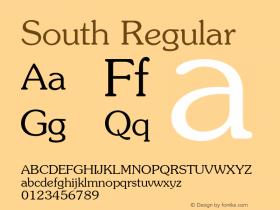South Regular 1.000 Font Sample