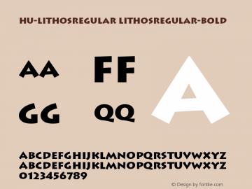 Hu-LithosRegular LithosRegular-Bold Version 001.000 Font Sample