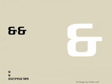 London SeventyNine Version 001.000 Font Sample