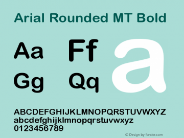 Arial Rounded MT Bold Version 001.003图片样张
