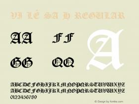 VI Lê Sa H Regular Unknown Font Sample