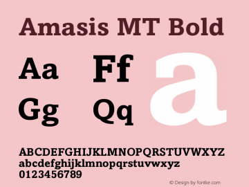 Amasis MT Bold Version 001.003图片样张