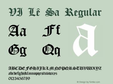 VI Lê Sa Regular Unknown Font Sample