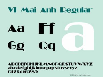 VI Mai Anh Regular Unknown Font Sample