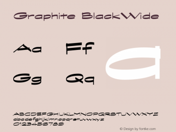 Graphite BlackWide Version 001.000 Font Sample