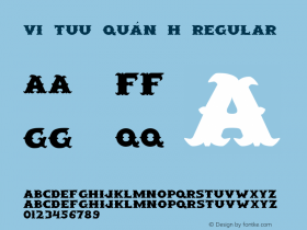 VI Tuu Quán H Regular Unknown Font Sample