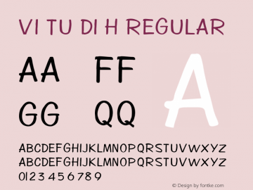 VI Tu Di H Regular Unknown Font Sample