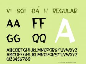 VI Soi Ðá H Regular Unknown Font Sample