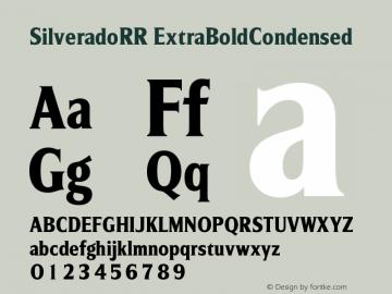 SilveradoRR ExtraBoldCondensed Version 001.004图片样张