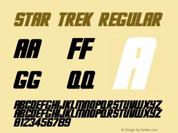 Star Trek Regular Unknown Font Sample