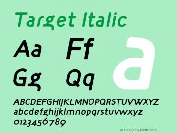 Target Italic Version 001.000图片样张