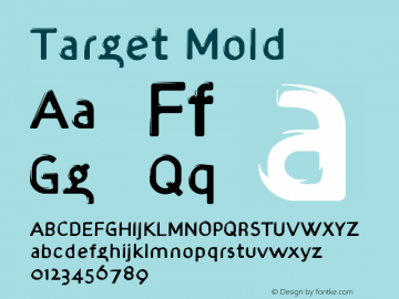 Target Mold Version 001.000 Font Sample