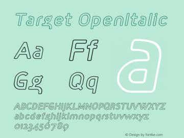 Target OpenItalic Version 001.000图片样张