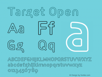 Target Open Version 001.000 Font Sample