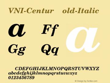VNI-Centur Bold-Italic 1.0 Tue Jan 18 11:40:05 1994 Font Sample