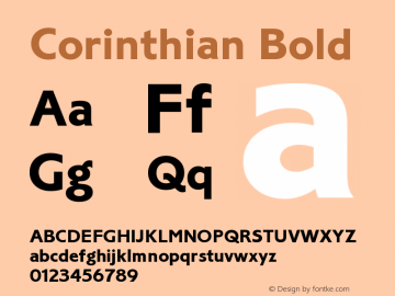 Corinthian Bold Version 1.0图片样张