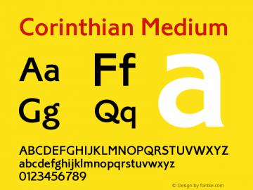Corinthian Medium Version 1.0图片样张