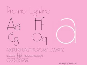 Premier Lightline Version 001.001 Font Sample