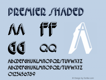 Premier Shaded Version 001.001 Font Sample
