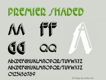 Premier Shaded Version 1.0 Font Sample