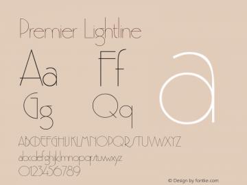 Premier Lightline Version 1.0 Font Sample