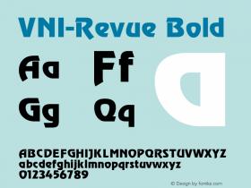 VNI-Revue Bold 1.0 Tue Jan 18 17:51:32 1994 Font Sample
