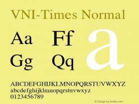 VNI-Times Normal 1.0 Tue Apr 20 17:44:27 1993 Font Sample