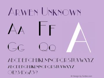 Arwen Unknown Version 1.5 Font Sample