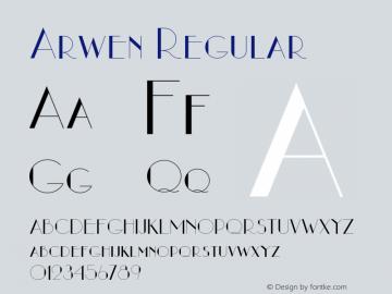 Arwen Regular 1.5 Font Sample