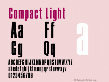 Compact Light Version 001.000 Font Sample