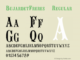 BujardetFreres Regular Altsys Fontographer 3.5  11/28/93 Font Sample