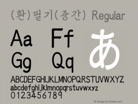 (환)필기(중간) Regular HAN Font Conversion Ver 1.0 by Art-Woder Font Sample