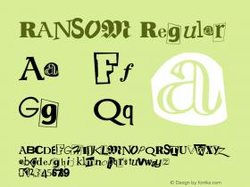 RANSOM Regular Unknown Font Sample