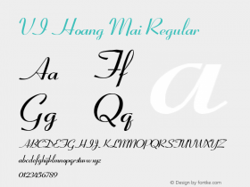 VI Hoang Mai Regular 10.10.93 Font Sample