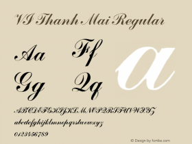 VI Thanh Mai Regular 10.10.93 Font Sample