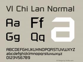 VI Chi Lan Normal 1.0 Tue Jan 18 14:46:13 1994 Font Sample