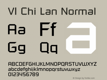VI Chi Lan Normal 1.0 Tue Jan 18 14:46:13 1994 Font Sample