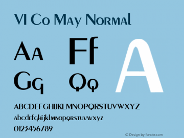 VI Co May Normal 1.0 Tue Jan 11 09:50:55 1994 Font Sample