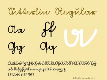 Sütterlin Regular Macromedia Fontographer 4.1 5/10/97 Font Sample
