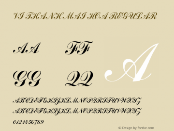 VI Thanh Mai Hoa Regular 10.10.93 Font Sample