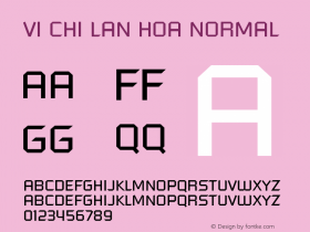 VI Chi Lan Hoa Normal 1.0 Tue Jan 18 14:44:39 1994 Font Sample