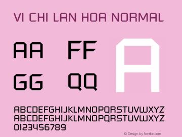 VI Chi Lan Hoa Normal 1.0 Tue Jan 18 14:44:39 1994 Font Sample