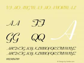 VI Hoang Mai Hoa Normal 1.0 Fri Jan 14 14:45:41 1994 Font Sample
